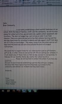Donation Letter Form