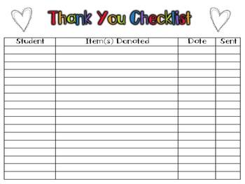 Donation Station (EDITABLE Classroom Donations Organizer)