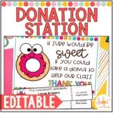 EDITABLE Donation Station for Meet the Teacher