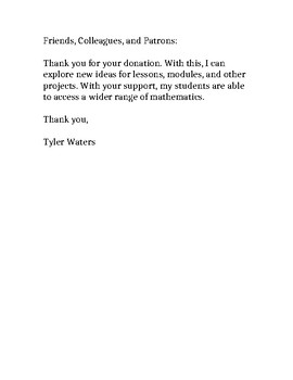 Donation: Thank You