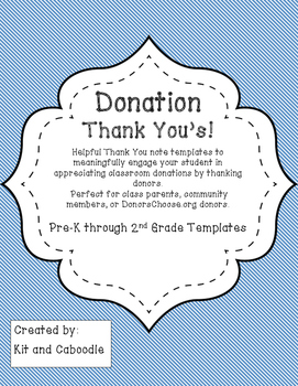 Donation Thank You Template Freebie