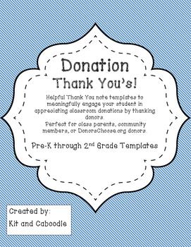 Donation Thank You Template Freebie
