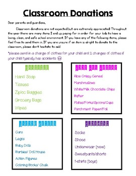 Donations Newsletter Back to School