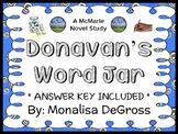 Donavan's Word Jar (Monalisa DeGross) Novel Study / Comprehension  (28 pages)
