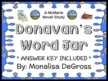 Donavan's Word Jar (Monalisa DeGross) Novel Study / Comprehension  (28 pages)