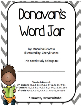 Donavan's Word Jar Novel Study / Key