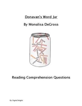 Donavan's Word Jar Reading Comprehension Questions