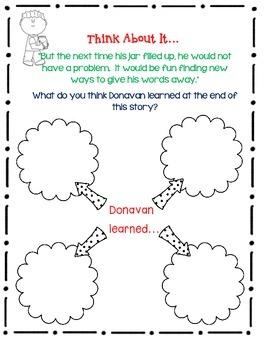 Donavan's Word Jar by Monalisa DeGross - A Complete Book Response Journal