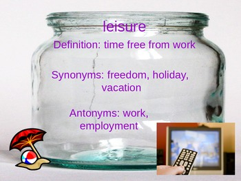 Donavon's Word Jar Vocabulary Powerpoint