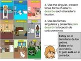 Dónde Estás Fabi - Estar Present Tense LEARNING ACTIVITY /
