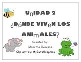 Unidad 2: Donde Viven los animales Imaginalo