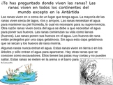 Ã'Â¿Donde viven las ranas? Where do frogs live?
