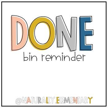 Done Bin Reminder Freebie