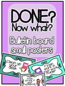 Done? Now what? Mini posters