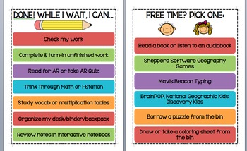 Done, what now? What to do with free time? 2 EDITABLE posters