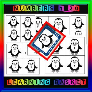 Penguin Number Cards 1-20
