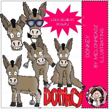 Donkey clip art - Mini - Melonheadz clipart