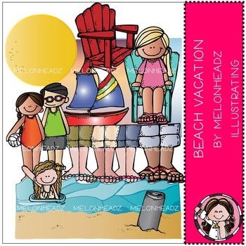 Melonheadz: Beach Vacation clip art - COMBO PACK