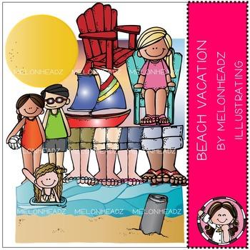 Beach Vacation clip art- by Melonheadz