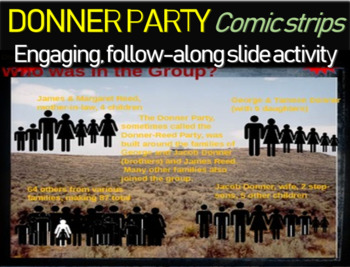 Donner Party Comic Strip Activity - fun, engaging, informa
