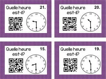 Donner l'heure cartes d'activité avec des codes QR