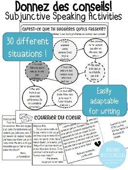 Donnez des conseils | Subjunctive Speaking