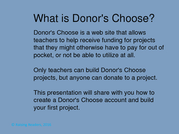 Donor's Choose Cheat Sheet