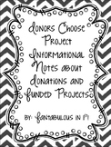Donors Choose Project Notes