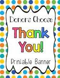 Donors Choose Thank You Banner