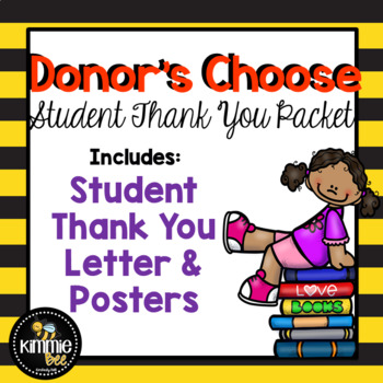 Donors Choose Thank You Freebie