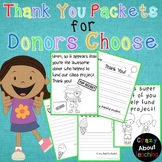 Thank You Packets for Donors Choose