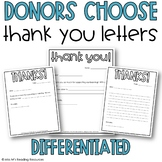 Donors Choose Thank You Letters