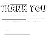 Donors Choose Thank You Notes *UPDATED*