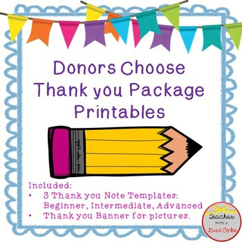 Donors Choose Thank You Printables