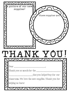 Donors Choose Thank You Printables by Teacher with a Diet ...