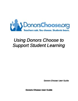Donors Choose User's Guide