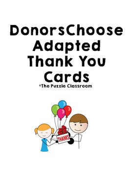 DonorsChoose Adapted Cards