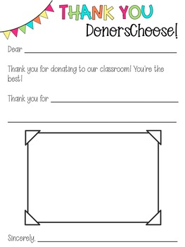 DonorsChoose Thank You Letters