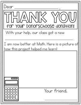 DonorsChoose Thank You Notes (Math)