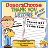 DonorsChoose Thank You Letter Templates (3rd Grade & above)