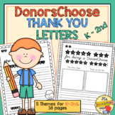 DonorsChoose Thank You Letter Templates (K-2nd Grade)