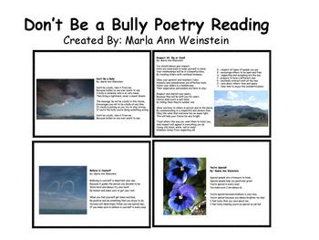 Don't Be A Bully Poetry Reading