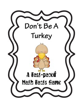 Don't Be A Turkey Math Game