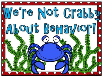 Don't Be Crabby! Themed Behavior Clip Chart