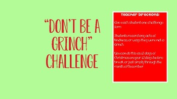 Dont Be a Grinch Challenge