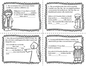 Don't Be a Scrooge!  Bible Task Cards for Upper Elementary