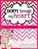 Don't Break My Heart {Math Practice}