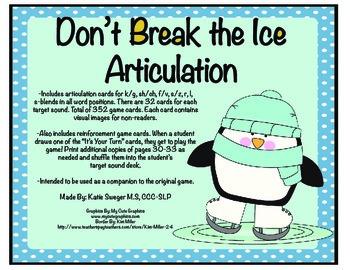 Don't Break the Ice Articulation Companion