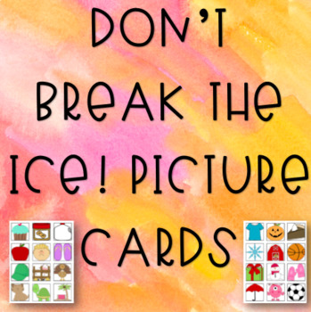 Don't Break the Ice! Picture Cards