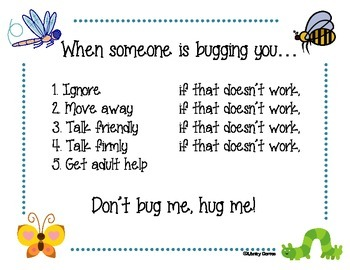 Don't Bug Me, Hug Me Sign
